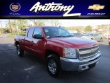 2012 Victory Red Chevrolet Silverado 1500 LS Extended Cab 4x4 #62976952