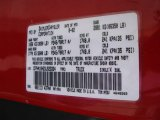 2003 Ram 1500 Color Code for Flame Red - Color Code: PR4