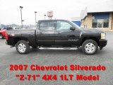 2007 Black Chevrolet Silverado 1500 LT Z71 Crew Cab 4x4 #62976881