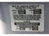 2010 XK Color Code for Liquid Silver Metallic - Color Code: MEE