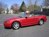 2002 Laser Red Metallic Ford Mustang V6 Convertible #62976875