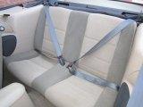 2002 Ford Mustang V6 Convertible Rear Seat