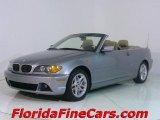 2004 Silver Grey Metallic BMW 3 Series 325i Convertible #543803