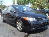 2007 Nighthawk Black Pearl Honda Civic LX Coupe #62976023