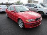 2002 Electric Red BMW 3 Series 330xi Sedan #62976014