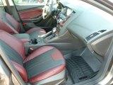 2012 Ford Focus SEL Sedan Tuscany Red Leather Interior