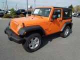 2012 Crush Orange Jeep Wrangler Sport S 4x4 #62976762