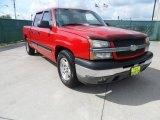 2005 Victory Red Chevrolet Silverado 1500 LS Crew Cab #62976367