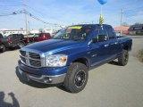 2008 Electric Blue Pearl Dodge Ram 1500 Big Horn Edition Quad Cab 4x4 #62976327