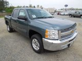 2012 Blue Granite Metallic Chevrolet Silverado 1500 LT Crew Cab #62976684