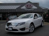 2010 White Platinum Tri-coat Metallic Ford Fusion SE V6 #63038889
