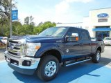 2012 Dark Blue Pearl Metallic Ford F250 Super Duty XLT Crew Cab 4x4 #63038225
