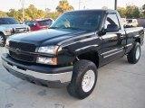 2003 Black Chevrolet Silverado 1500 LS Regular Cab 4x4 #63038832