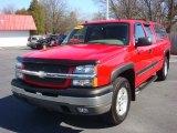 2004 Victory Red Chevrolet Silverado 1500 Z71 Extended Cab 4x4 #63038802