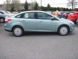 2012 Frosted Glass Metallic Ford Focus SE SFE Sedan #63038500