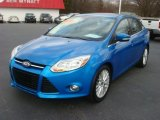 2012 Blue Candy Metallic Ford Focus SEL Sedan #63038801