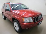 2002 Inferno Red Tinted Pearlcoat Jeep Grand Cherokee Limited 4x4 #63038094