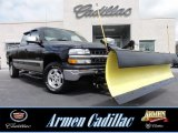 2002 Onyx Black Chevrolet Silverado 1500 LS Extended Cab 4x4 #63038080