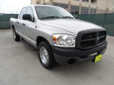 2008 Bright Silver Metallic Dodge Ram 1500 ST Quad Cab #63038334
