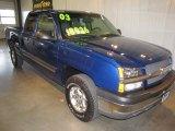 2003 Arrival Blue Metallic Chevrolet Silverado 1500 Z71 Extended Cab 4x4 #63101131