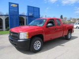 2012 Victory Red Chevrolet Silverado 1500 Work Truck Extended Cab 4x4 #63100739