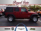 2012 Flame Red Jeep Wrangler Unlimited Sport S 4x4 #63100656