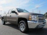 2012 Mocha Steel Metallic Chevrolet Silverado 1500 LS Extended Cab #63101025