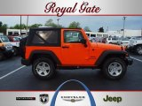 2012 Crush Orange Jeep Wrangler Sport S 4x4 #63100648