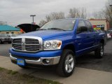 2008 Electric Blue Pearl Dodge Ram 1500 Big Horn Edition Quad Cab 4x4 #63101354