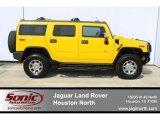 2003 Yellow Hummer H2 SUV #63100982