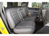 2003 Hummer H2 SUV Black Interior