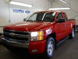 2007 Victory Red Chevrolet Silverado 1500 LT Extended Cab 4x4 #63101289