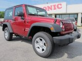 2012 Deep Cherry Red Crystal Pearl Jeep Wrangler Sport 4x4 #63100929
