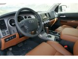 2012 Toyota Tundra Limited Double Cab 4x4 Red Rock Interior