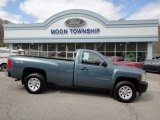 2010 Blue Granite Metallic Chevrolet Silverado 1500 Regular Cab 4x4 #63100921
