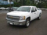 2012 Summit White Chevrolet Silverado 1500 LT Extended Cab #63101249