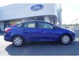 2012 Sonic Blue Metallic Ford Focus SE Sedan #63100824