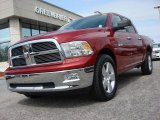 2010 Inferno Red Crystal Pearl Dodge Ram 1500 Big Horn Crew Cab #63169648