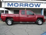 2007 Sport Red Metallic Chevrolet Silverado 1500 LT Z71 Extended Cab 4x4 #63200355