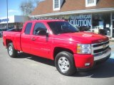 2008 Victory Red Chevrolet Silverado 1500 LT Extended Cab 4x4 #63200477