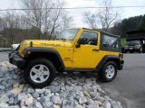 2011 Detonator Yellow Jeep Wrangler Sport S 4x4 #63200655