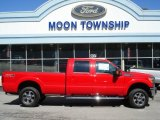2012 Vermillion Red Ford F350 Super Duty Lariat Crew Cab 4x4 #63200457