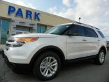 2013 White Platinum Tri-Coat Ford Explorer XLT 4WD #63200440