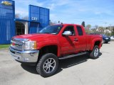 2012 Victory Red Chevrolet Silverado 1500 LT Extended Cab 4x4 #63242762