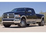 2010 Brilliant Black Crystal Pearl Dodge Ram 3500 Laramie Crew Cab 4x4 Dually #63242747