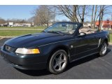 1999 Dark Green Satin Metallic Ford Mustang V6 Convertible #63243164