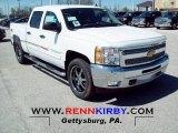 2012 Summit White Chevrolet Silverado 1500 LT Crew Cab 4x4 #63243148