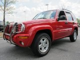 Flame Red Jeep Liberty in 2002