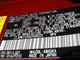 2008 RX Color Code for Matador Red Mica - Color Code: 3R1