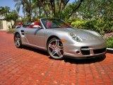 2008 GT Silver Metallic Porsche 911 Turbo Cabriolet #63243097